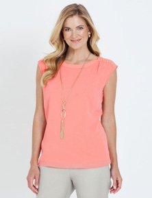 S/LESS OVERLAY TOP