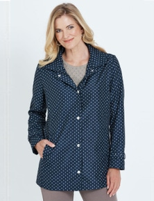 NONI B LONG SLEEVE POLKA DOT COAT