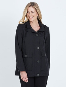 NONI B LONG SLEEVE HOODED BUTTON THROUGH COAT