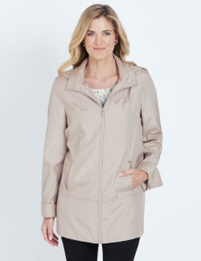 NONI B LONG SLEEVE HOODED ZIP THROUGH COAT