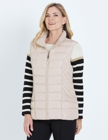 NONI B SLEEVELESS QUILTED VEST