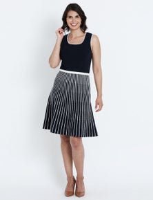 Liz Jordan S/S KNITTED FIT FLARE DRESS