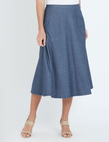 NONI B MID STRETCH DENIM ALINE SKIRT