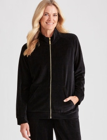 NONI B L/S VELOUR ZIP THRU JACKET