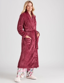 NONI B LONG SLEEVE PLUSH POLKA DOT ROBE