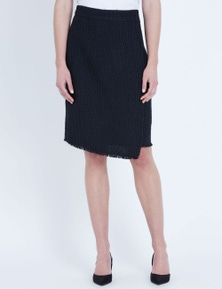 LIZ JORDAN TEXTURED PENCIL SKIRT