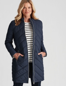 NONI B LONGLINE QUILTED PUFFER COAT
