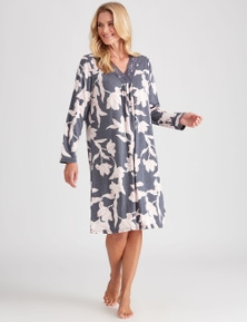 NONI B L/S ABSTRACT FLORL NIGHTIE