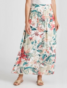 NONI B A-LINE GATHERED SPOT SKIRT