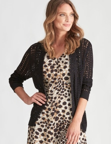 LIZ JORDAN LONG SLEEVE OPEN KNIT CARDI