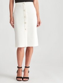LIZ JORDAN PEARL BUTTON PENCIL SKIRT