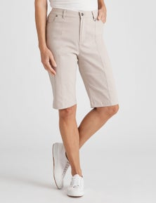 NONI B PINKTUCK FLY FRONT SHORTS