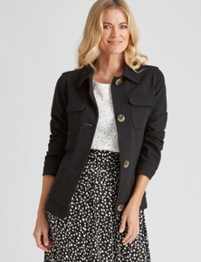 NONI B PATCH POCKET BUTTTON JACKET