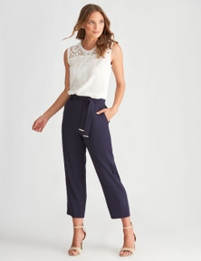 LIZ JORDAN TAPERED LEG PLAIN PANT