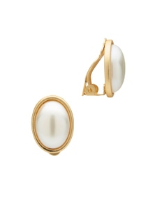 CABACHON PEARL CLIP EARRING