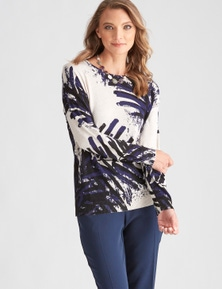 LIZ JORDAN KNIT PALM JUMPER