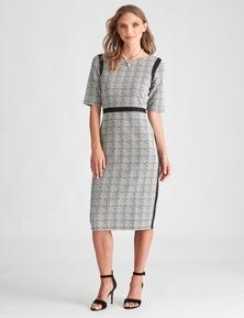 LIZ JORDAN PANEL SHIFT DRESS