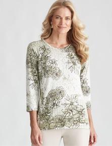 Noni B Knit Rose Print Jumper