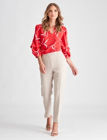 LIZ JORDAN SLEEVE TUCK TOP