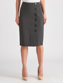 LIZ JORDAN PONTE PENCIL SKIRT