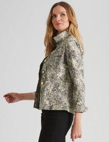 Noni B Cotton Collared Jacket