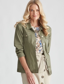 NONIB COTTON COLLARED JACKET