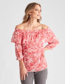 LIZ JORDAN OFF SHOULDER TOP