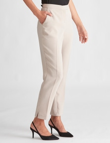 LIZ JORDAN WOVEN TAILORED PANT