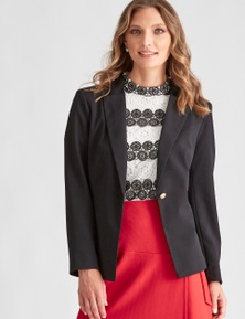 LIZ JORDAN WOVEN BUTTON JACKET