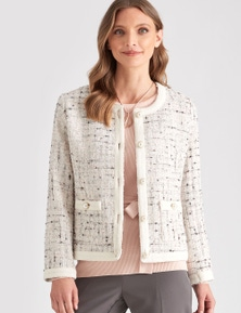 LIZ JORDAN PEARL BUTTON JACKET