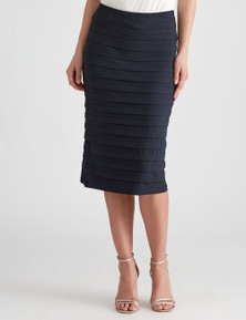 LIZ JORDAN AFTERDARK PINTUCK PENCIL SKIRT