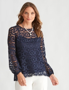 LIZ JORDAN LACE TOP