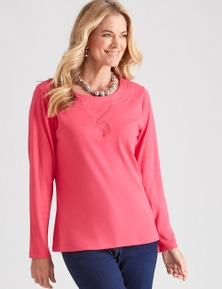 NONIB COTTON EMBELLISHED TEE