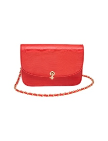 EMBOSSED FLAPOVER BAG