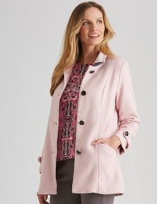 NONIB BOILED WOOL BUTTON COAT