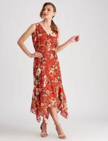 Liz Jordan WRAP FRONT DRESS