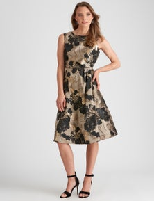 Liz Jordan AFTER DARK BROCADE DRESS