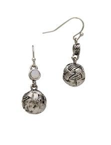 Liz Jordan Knotted Ball Drop Earring