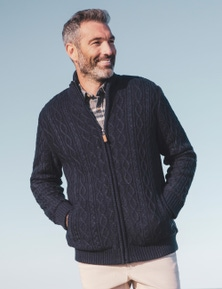Rivers Cable Knit Sherpa Cardigan