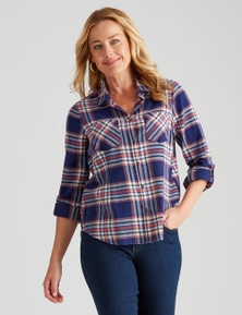 Rivers Long Sleeve Flannel Check Shirt
