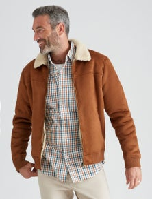 Rivers Sherpa Suedette Bomber Jacket