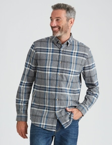 Rivers Long Sleeve Cotton Flannel Check Shirt