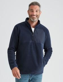 Rivers Quarter Zip Polarfleece Sweater