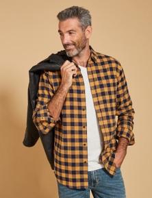 Rivers Long Sleeve Flannelette Buffalo Check Shirt