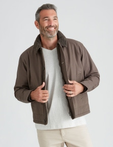 Rivers Canvas Sherpa Trim Jacket