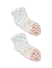 Rivers Sherpa Lurex Slipper Sock