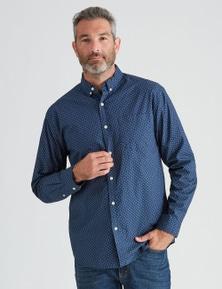 Rivers Long Sleeve Leaf Printed Shirt