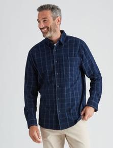 Rivers Long Sleeve Check Cord Shirt
