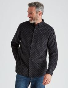 Rivers Long Sleeve Geo Printed Cord Shirt