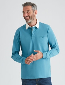 Rivers Long Sleeve Solid Colour Rugby